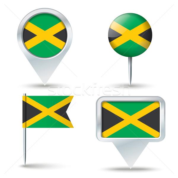 Kaart vlag Jamaica business weg witte Stockfoto © ojal