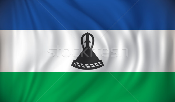 Pavillon Lesotho texture monde design Voyage Photo stock © ojal