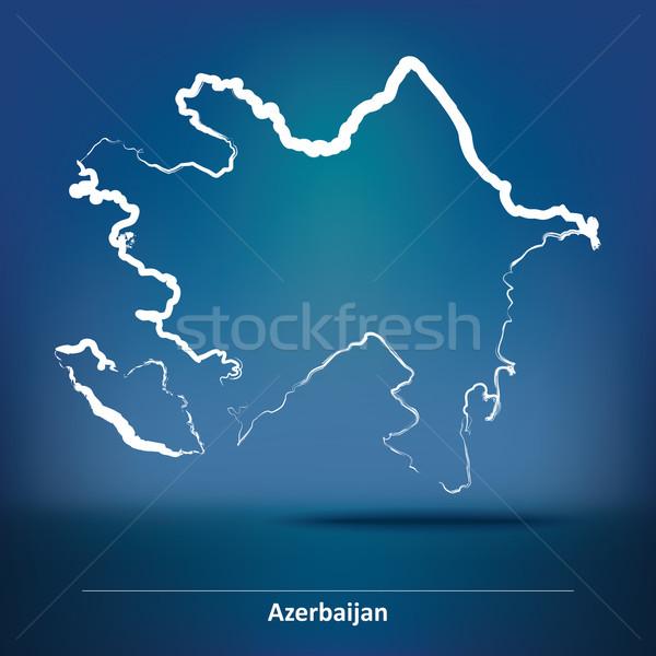 Gryzmolić Pokaż Azerbejdżan tekstury streszczenie projektu Zdjęcia stock © ojal