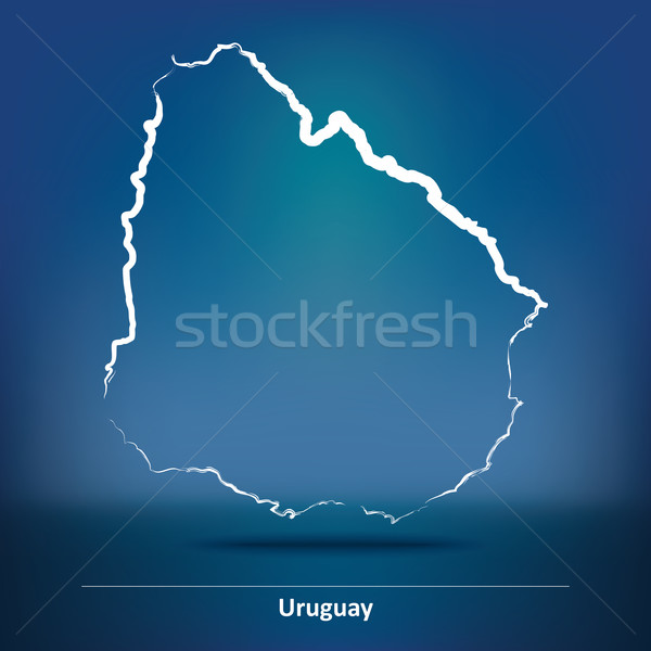 болван карта Уругвай город аннотация дизайна Сток-фото © ojal