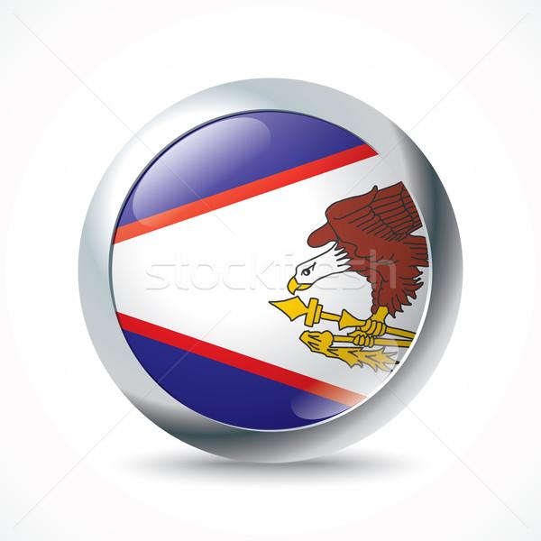 Samoa Americana bandeira botão negócio mundo terra Foto stock © ojal