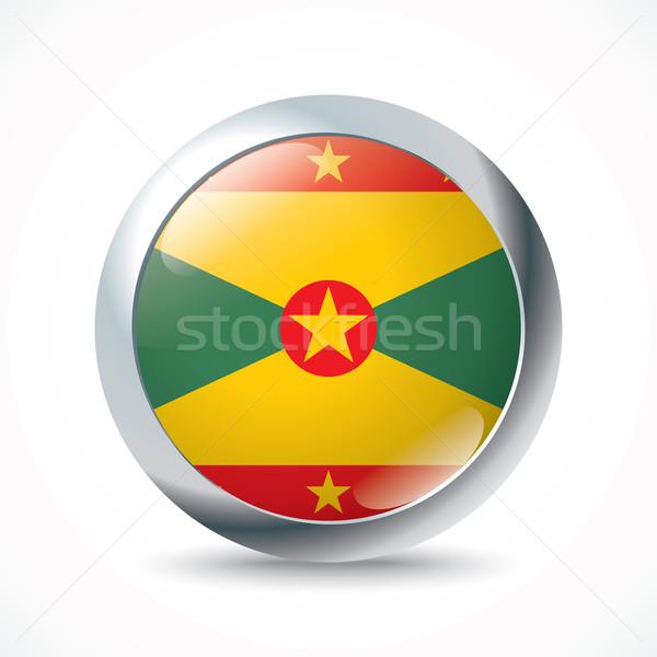 Granada bandeira botão textura viajar vento Foto stock © ojal