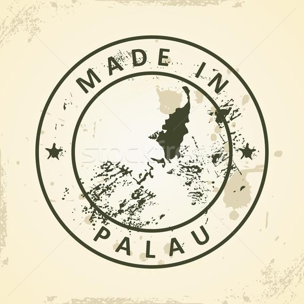 スタンプ 地図 パラオ グランジ デザイン 背景 ストックフォト © ojal