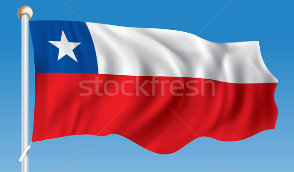 Flag of Chile Stock photo © ojal