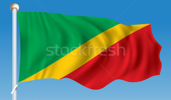 Flag of Republic of Congo Stock photo © ojal