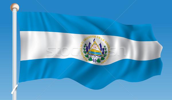 Flag of El Salvador Stock photo © ojal