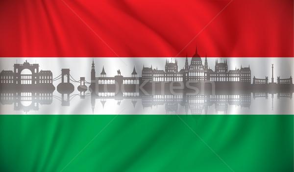 Bandiera skyline acqua costruzione città design Foto d'archivio © ojal