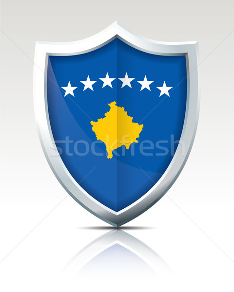 Shield with Flag of Kosovo Stock photo © ojal