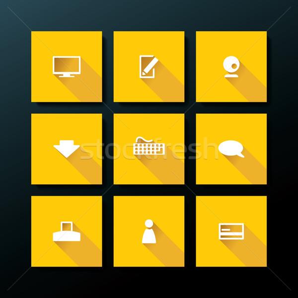 Vector flat web icon set Stock photo © ojal