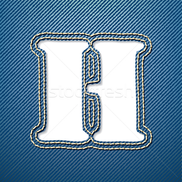 Denim jeans letter H Stock photo © ojal