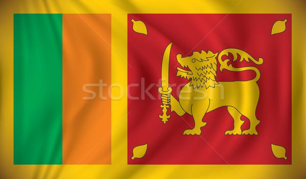 Flag of Sri Lanka Stock photo © ojal