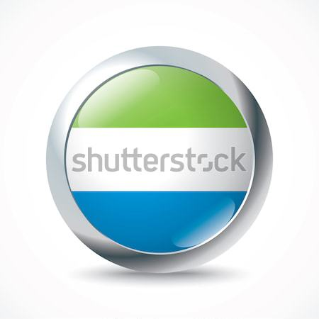 Sierra Leone flag button Stock photo © ojal