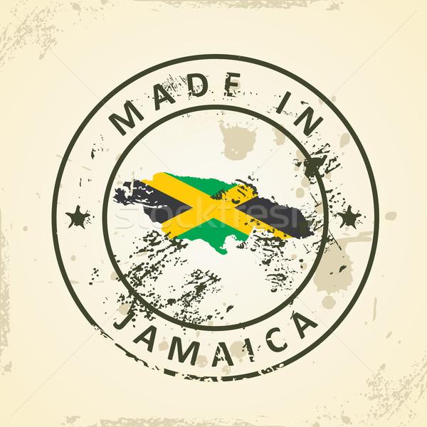 Stempel kaart vlag Jamaica grunge wereld Stockfoto © ojal