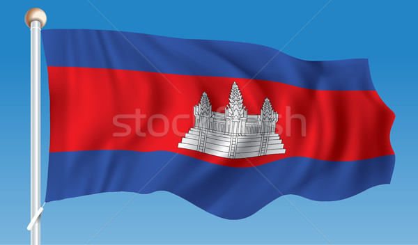 Bandeira Camboja cidade abstrato projeto vermelho Foto stock © ojal