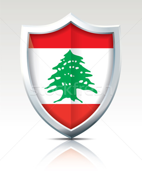 Shield with Flag of Lebanon Stock photo © ojal