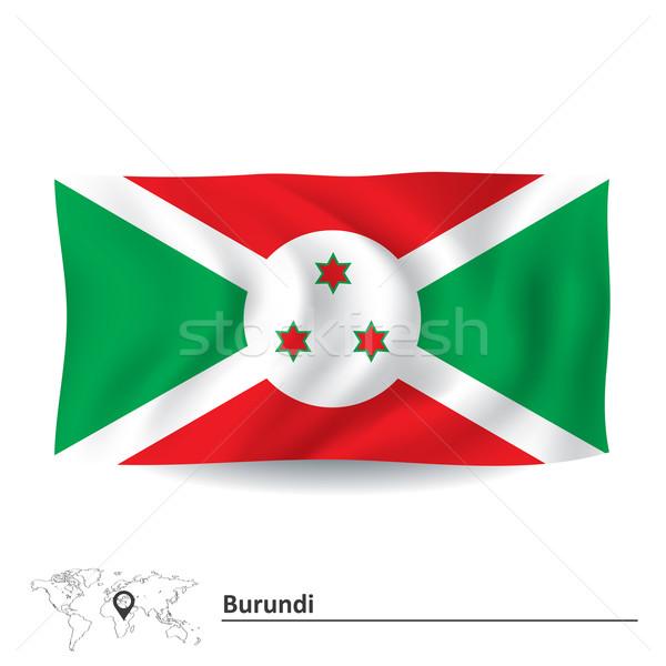 Foto stock: Bandeira · Burundi · textura · projeto · assinar · viajar
