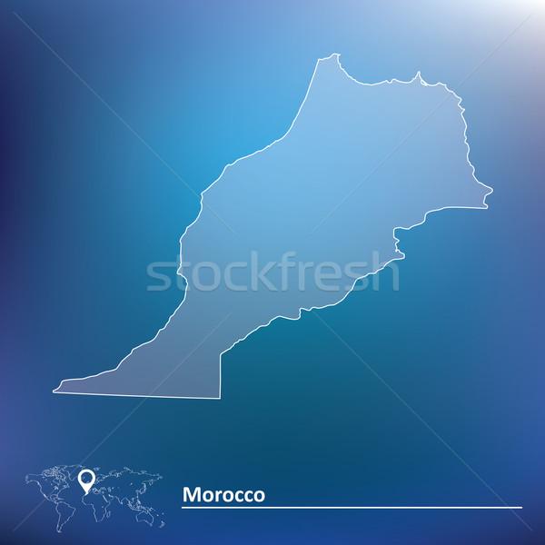 地図 モロッコ 旅行 星 赤 黒 ストックフォト © ojal