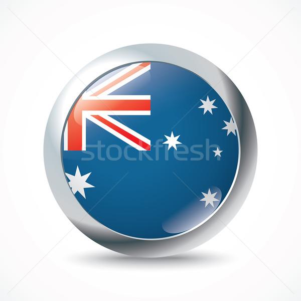 Австралия флаг кнопки Мир фон знак Сток-фото © ojal