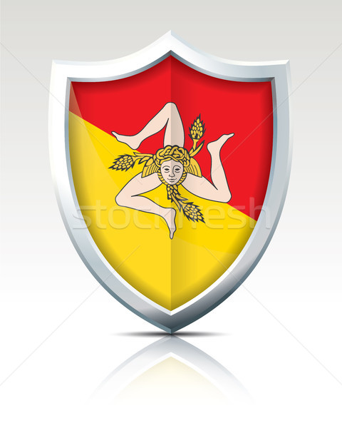 Shield with Flag of Sicily Stock photo © ojal