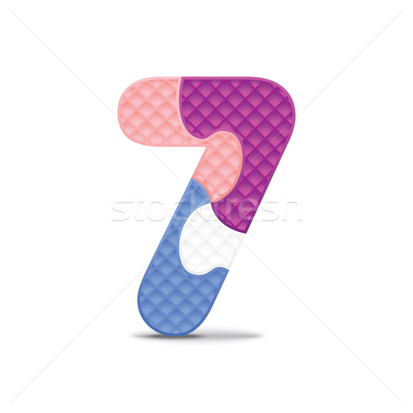 Vector number 7 written with alphabet puzzle Stock photo © ojal