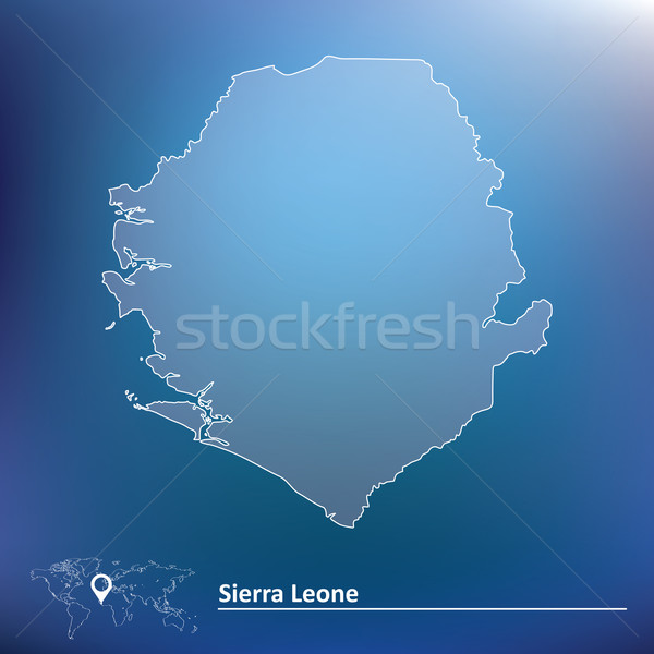 Map of Sierra Leone Stock photo © ojal