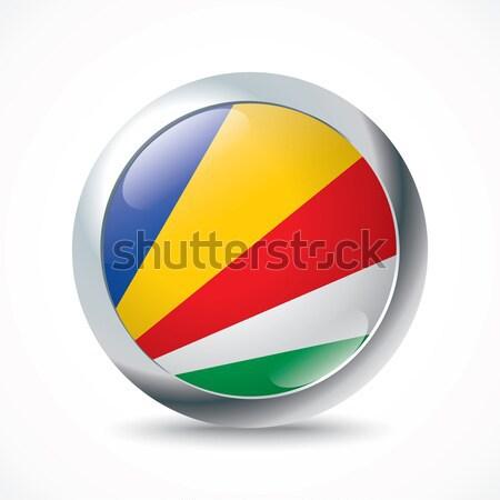 Seychellen vlag knop achtergrond teken reizen Stockfoto © ojal