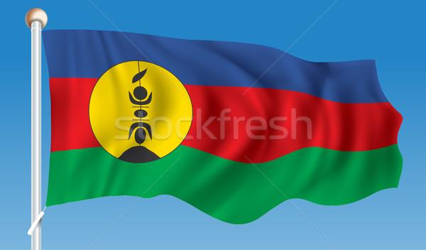 флаг новых знак стране кнопки землю Сток-фото © ojal