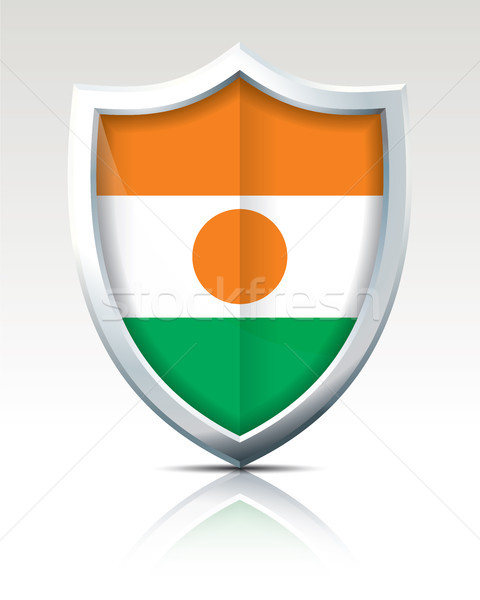 Escudo bandera Níger textura verde viaje Foto stock © ojal