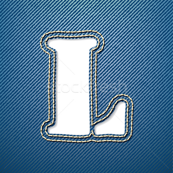 Denim jeans letter L Stock photo © ojal