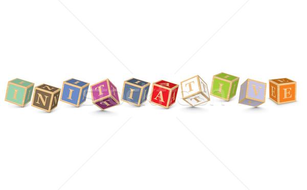 Kelime girişim yazılı alfabe bloklar iş Stok fotoğraf © ojal