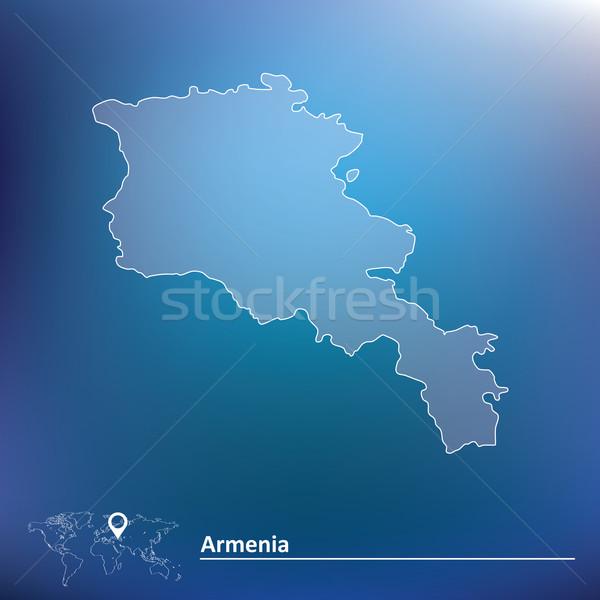 地図 アルメニア デザイン 世界 にログイン 青 ストックフォト © ojal