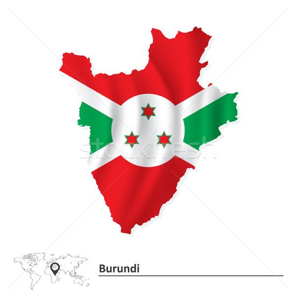 Mapa Burundi bandeira textura projeto assinar Foto stock © ojal