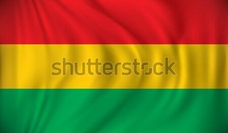 флаг Боливия океана Живопись цифровой стране Сток-фото © ojal