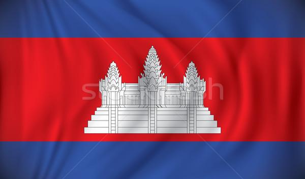 Bandeira Camboja cidade mapa abstrato projeto Foto stock © ojal