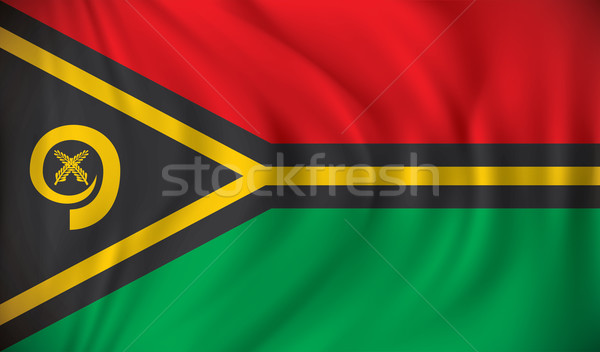 Bandeira Vanuatu assinar silhueta vento país Foto stock © ojal