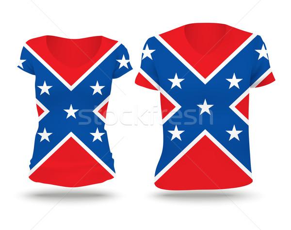 Confederate flag shirt design Stock photo © ojal