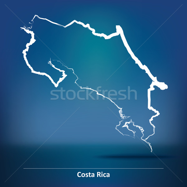 Firka térkép Costa Rica absztrakt terv háttér Stock fotó © ojal