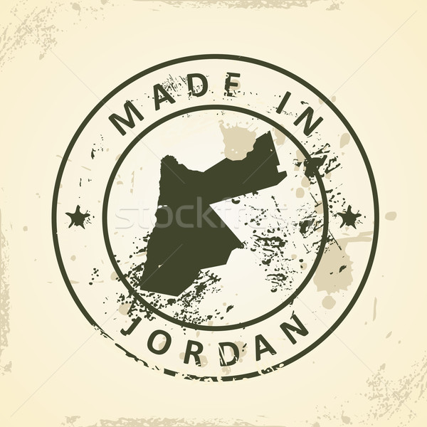 Carimbo mapa Jordânia grunge mundo fundo Foto stock © ojal