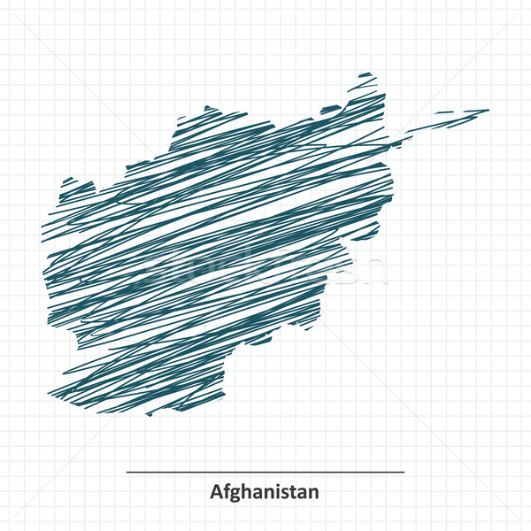 Doodle sketch of Afghanistan map Stock photo © ojal