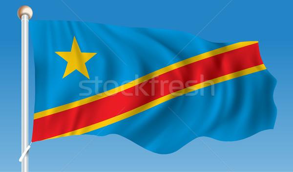 Flag of Democratic Republic of the Congo Stock photo © ojal