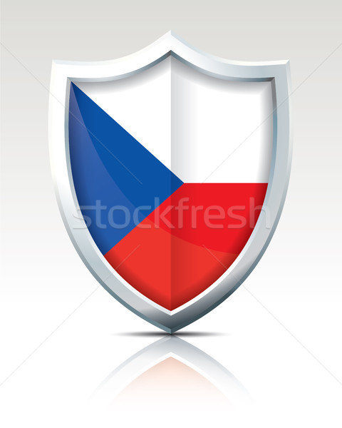 Shield with Flag of Czech Republic Stock photo © ojal