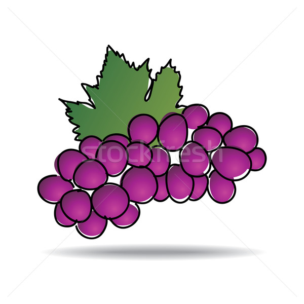 Freehand drawing grape icon Stock photo © ojal