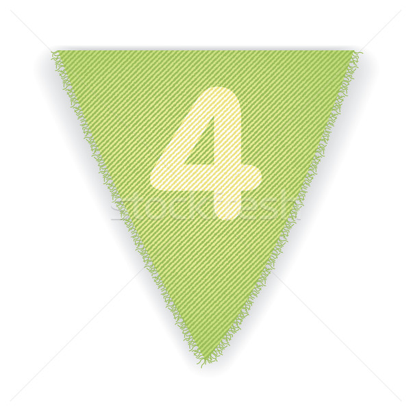 Bunting flag number 4 Stock photo © ojal