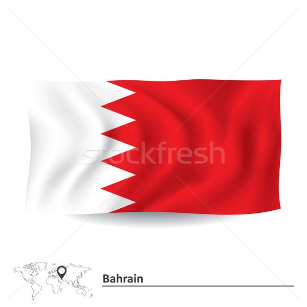 Bayrak Bahreyn harita soyut siluet Asya Stok fotoğraf © ojal