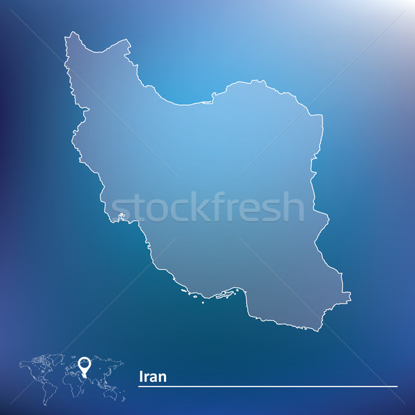 Map of Iran Stock photo © ojal