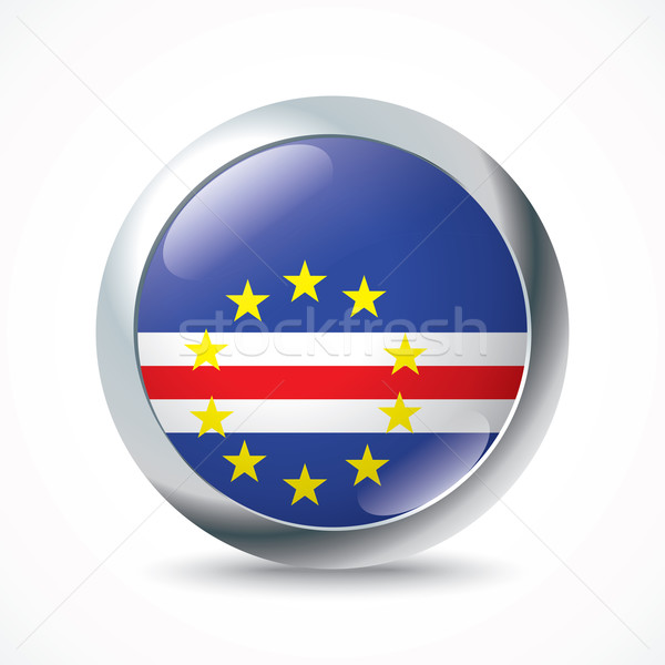 Cape Verde flag button Stock photo © ojal