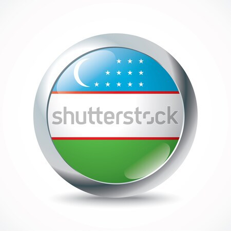 Uzbekistan flag button Stock photo © ojal