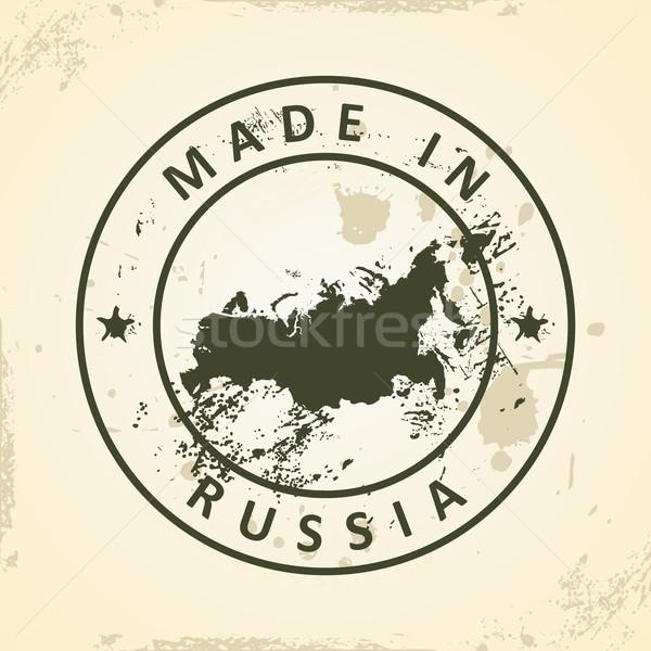 штампа карта Россия Гранж морем фон Сток-фото © ojal