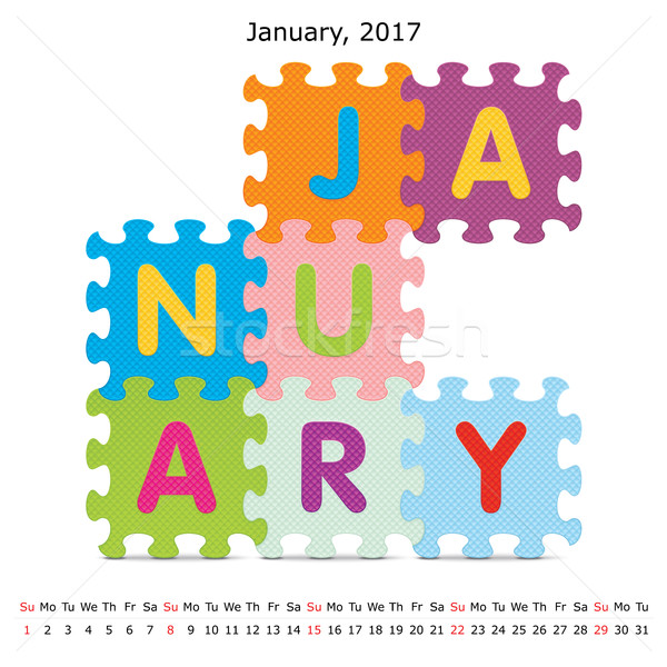 Puzzel kalender business papier kunst winter Stockfoto © ojal