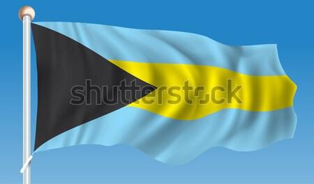 Flag of Bahamas Stock photo © ojal